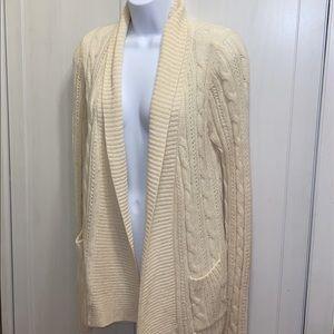 HOLLISTER Beige Cream Knit Cardigan